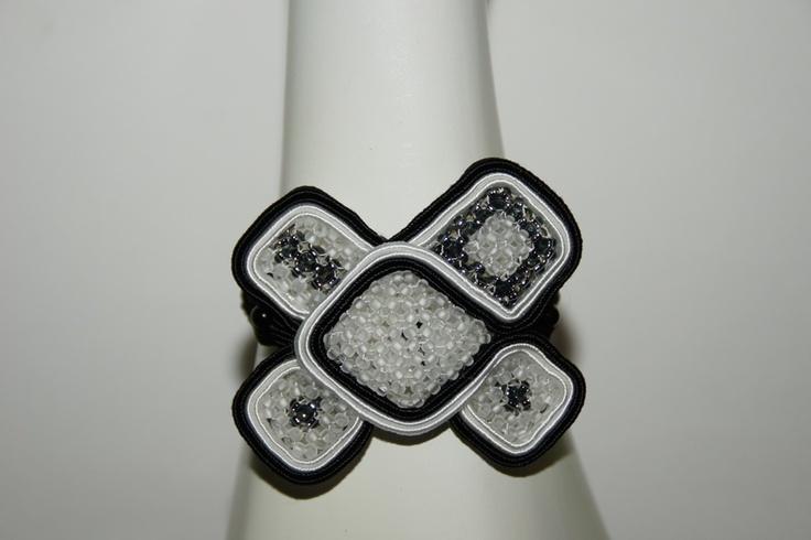 bransoletka sutasz ( soutache ) i cubic raw