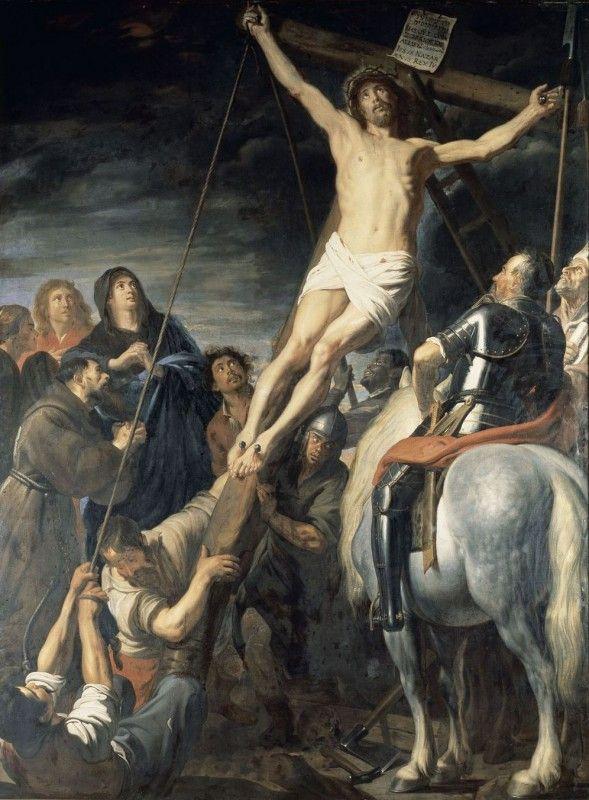 The Erection of the Cross / L'Érection de la Croix // 17th century // Gaspard de Crayer // Musée de Beaux-Arts de Rennes // #Jesus #Christ #crucifixion #Calvary
