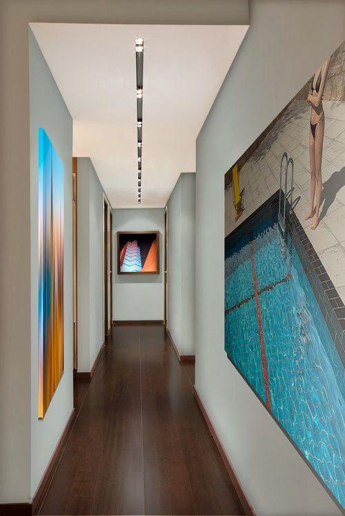jouer sur la perspective des illustrations au mur impression de prolongement du sol couloir. Black Bedroom Furniture Sets. Home Design Ideas