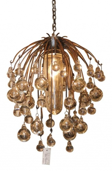 American made chandelier with hand blown glass balls designed by david taylor
