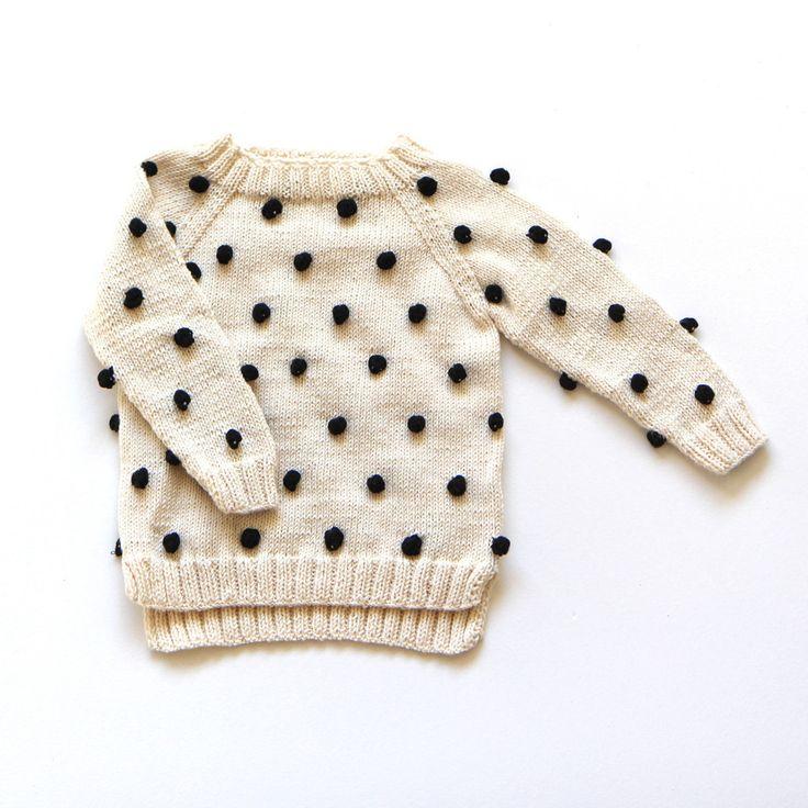 Cute pom pom sweater for kids | @modernburlap loves