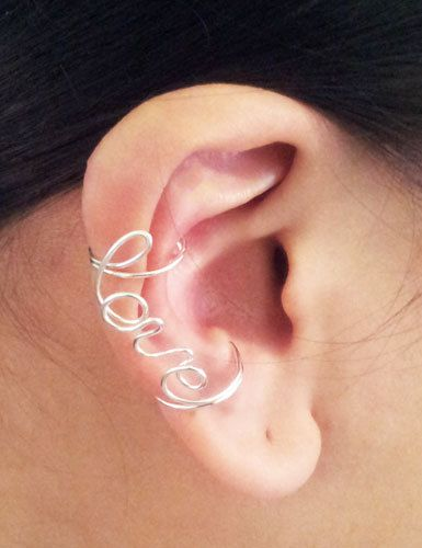 Obsessed with ear cuffs right now. This adorable one says 'Love'