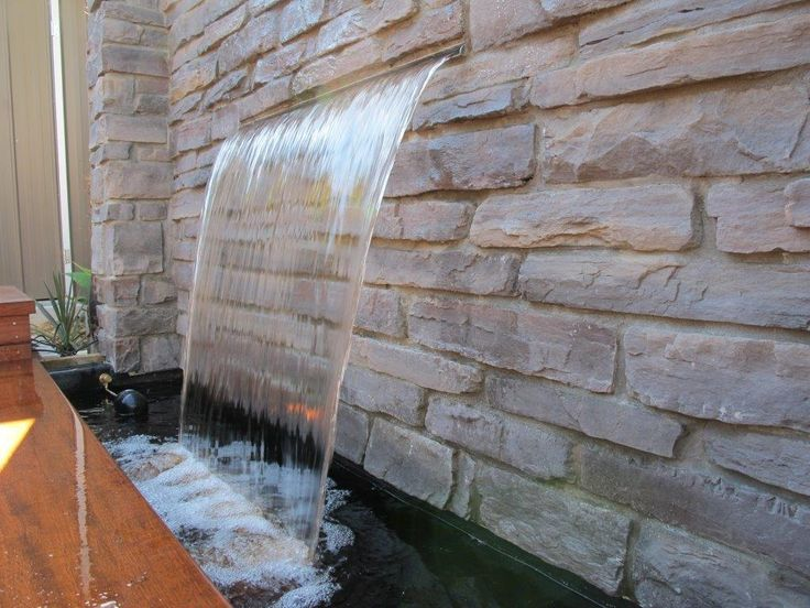 Do It Yourself Stone Wall Garden Water Feature - DIYMegaStore