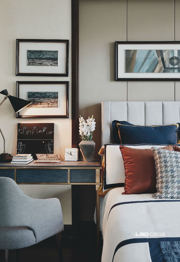 Lovely rich tones in this bedroom