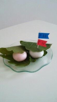 Kashiwa Mochi for children's day こどもの日。 かしわもちとこいのぼり