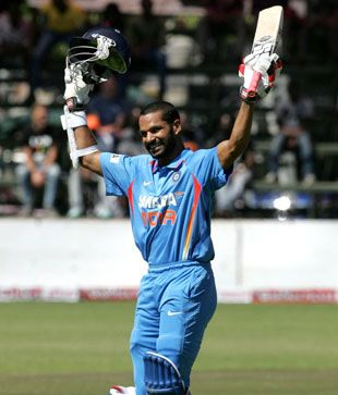 Shikhar Dhawan's 116 put India on their way to a 58-run win in the second ODI against Zimbabwe