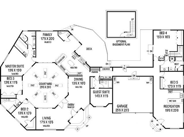 17 best images about dreamy house floor plans on pinterest for House plans with courtyards in center
