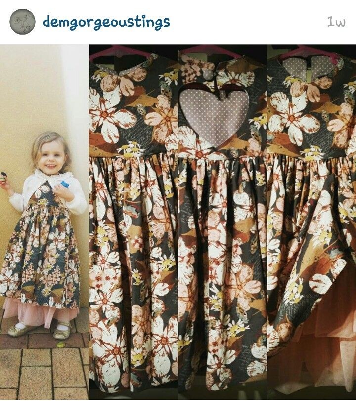 """Heart Love"" dress by DemGorgeousTings on Instagram  #wahm #handmade #DemGorgeousTings"