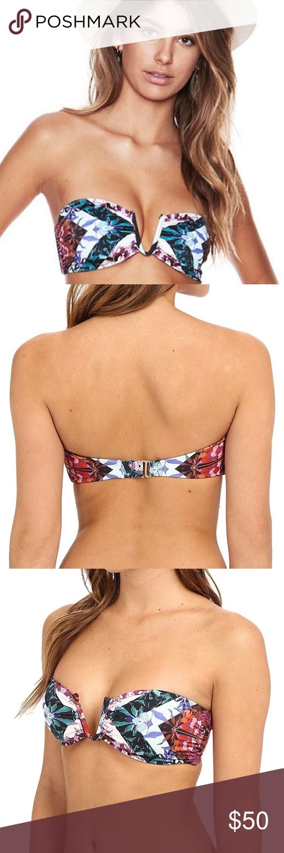 Beach Riot Diamond Back Frontier bikini top Awesome print bikini top in size Large by Beach Riot. Hook closure in the back. Flexible boning on sides for secure fit. In like new condition because I wore once and washed but never again. Looks great with multiple colored bikini bottoms (solid black, solid white, solid green, etc). No damage, no signs of wear, no stretch or pull of the material. Comes from a smoke free home. Can be reversible if you don't mind the tag showing or if you choose to…