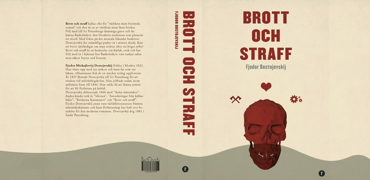 Book cover design for the Swedish version of Crime and punishment, school project
