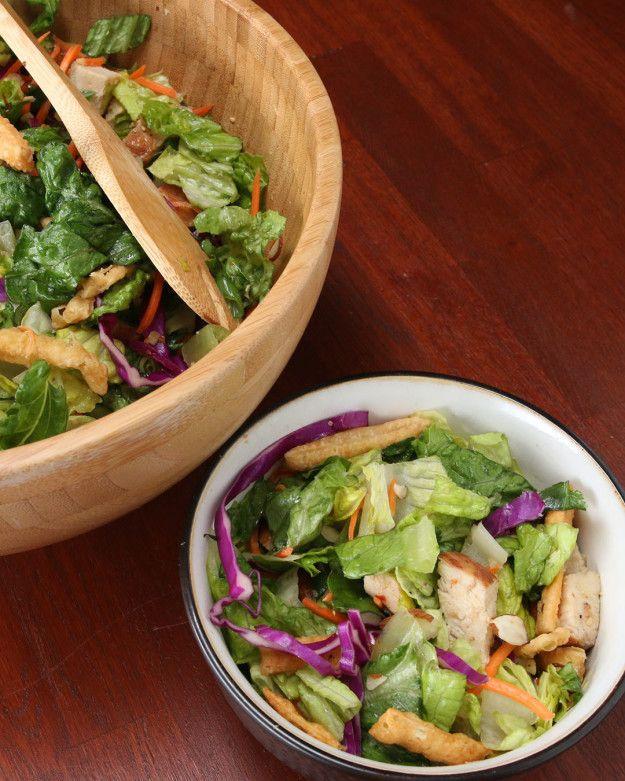 Asya Tavuk kıyılmış salatası | Asian Chicken Chopped Salad