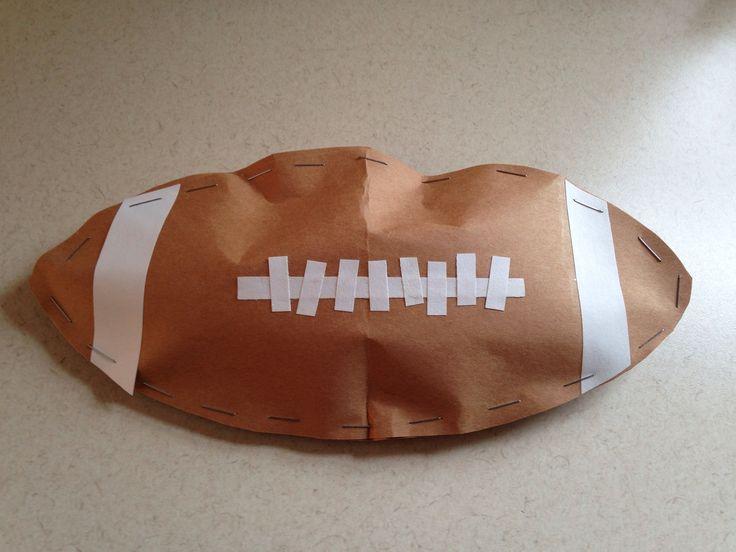 Football Craft - Super Bowl Craft - Preschool Craft