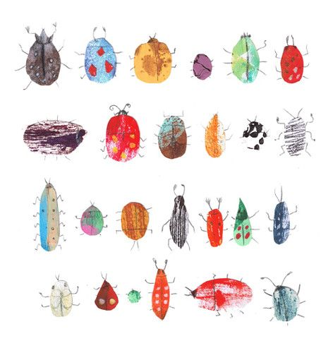 Bug Prints.//Getting ideas for my stint as Art Lead next month at work!