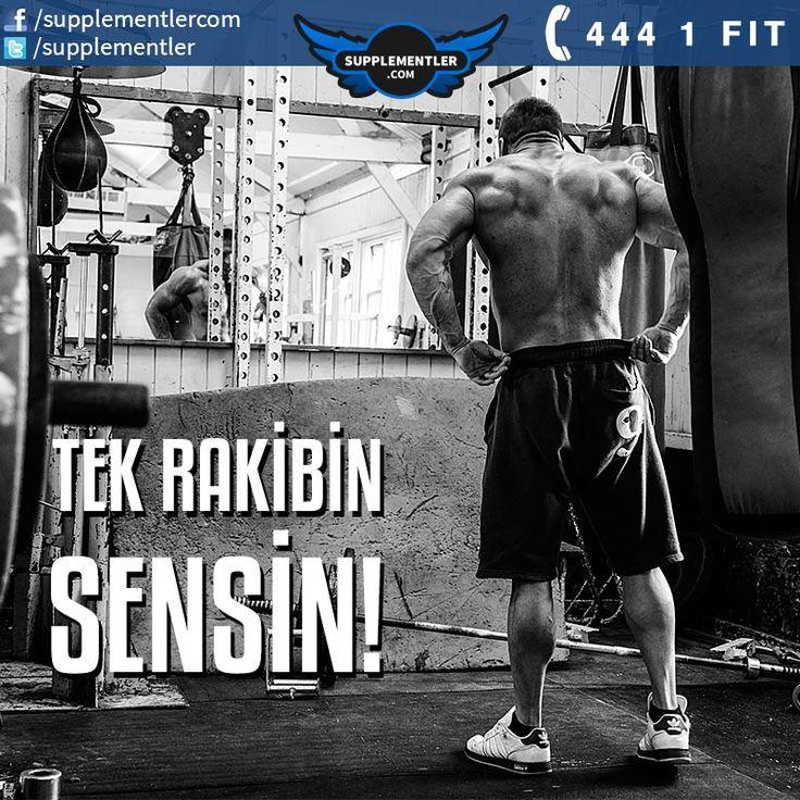 Tek Rakibin Sensin!  #supplementlercom #supplement #fitness #spor #antrenman #bodybuilding #workout #fitnessmotivation #egzersiz #motivasyon