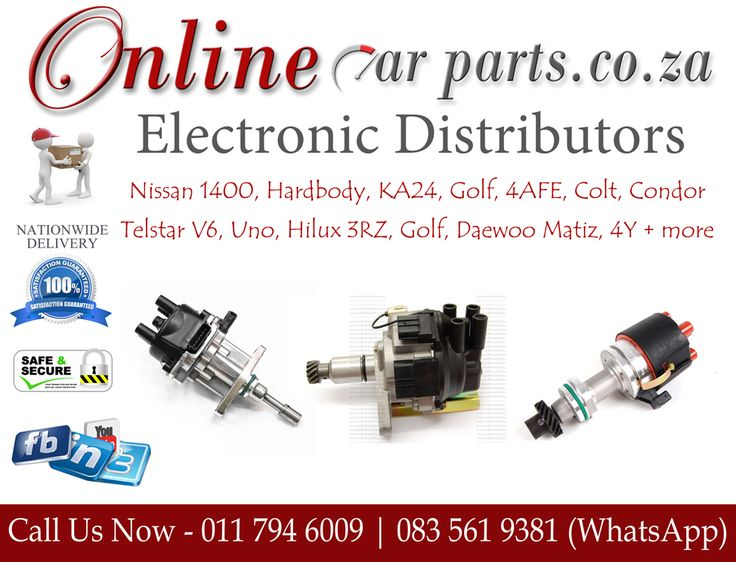 High Quality Electronic Distributors Points Condenser Distributor Modules Rotors Ignition Leads Caps  High Quality Electronic Distributors Points Condenser Distributors Rotors Ignition Leads Distributor Caps We Deliver Nationwide – Door to Door  Call us FOR ALL CAR PARTS on +27 (0)11 7946009 Landline. Reach us via WhatsApp for any queries or price requests on Car Parts. +27 81 253 1206 | +27 81 769 1982 +27 81 273 3484 | +27 61 468 2420 +27 81 745 2817 | +27 61 406 5469 +27 83 561 9381