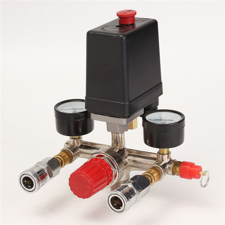 Air Compressor Pressure Control Switch Valve Manifold Regulator W/Gauges Relief Auto Control Auto load/unload #Affiliate