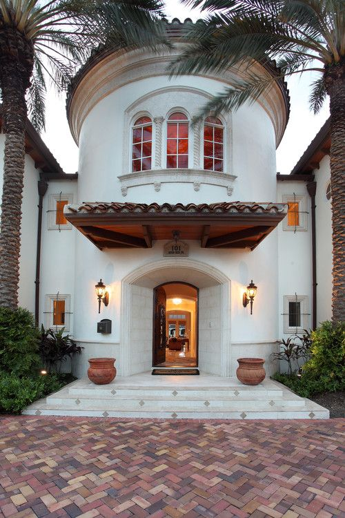 Best Spanish Images On Pinterest Spanish Revival Facades - Before and after from a mediterranean house fort lauderdale