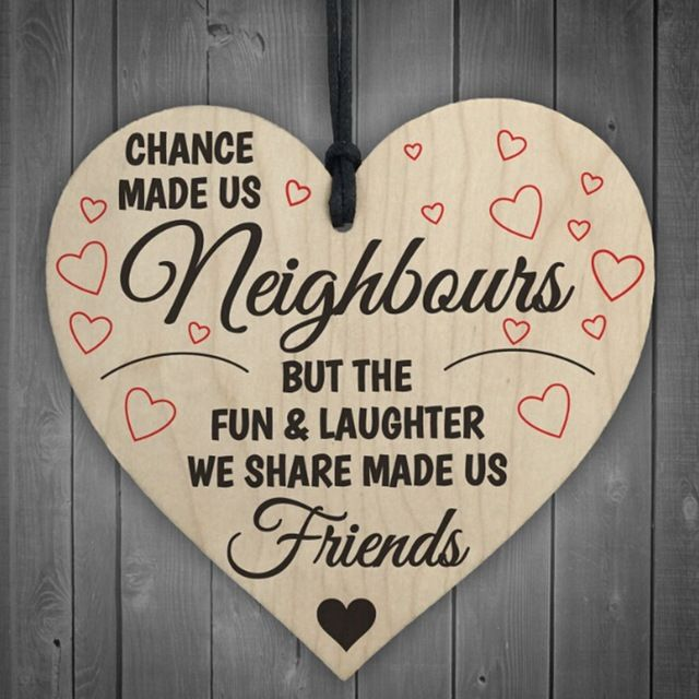 Send a message of love to your best neighbour friends