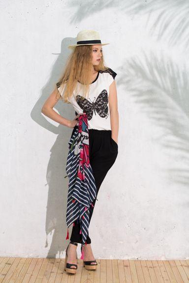 #pashmina #pañuenlo #scarf #stripes #navy #fular