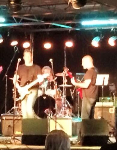 Photo of Dread Not with Timmy Jay and Chris Birkett on stage at Rockpile West. Photo used by permission.