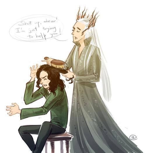 Sassy. Thor' & 'The Hobbit' Crossover Painting Featuring ...