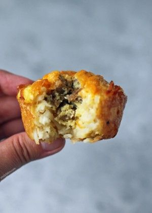 Sausage Egg and Cheese Hash Brown Cups