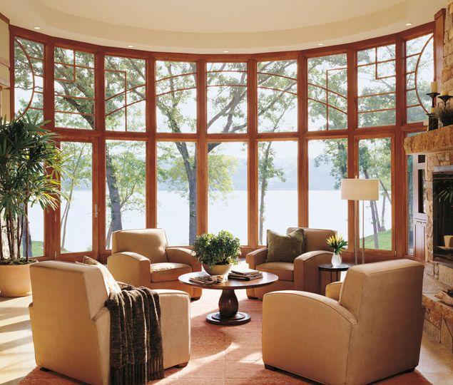 Gran ventanal Oval para el salón