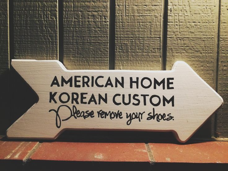 Been Looking for One with Korean Custom!  Love it!  Please remove your shoes sign with a personal twist