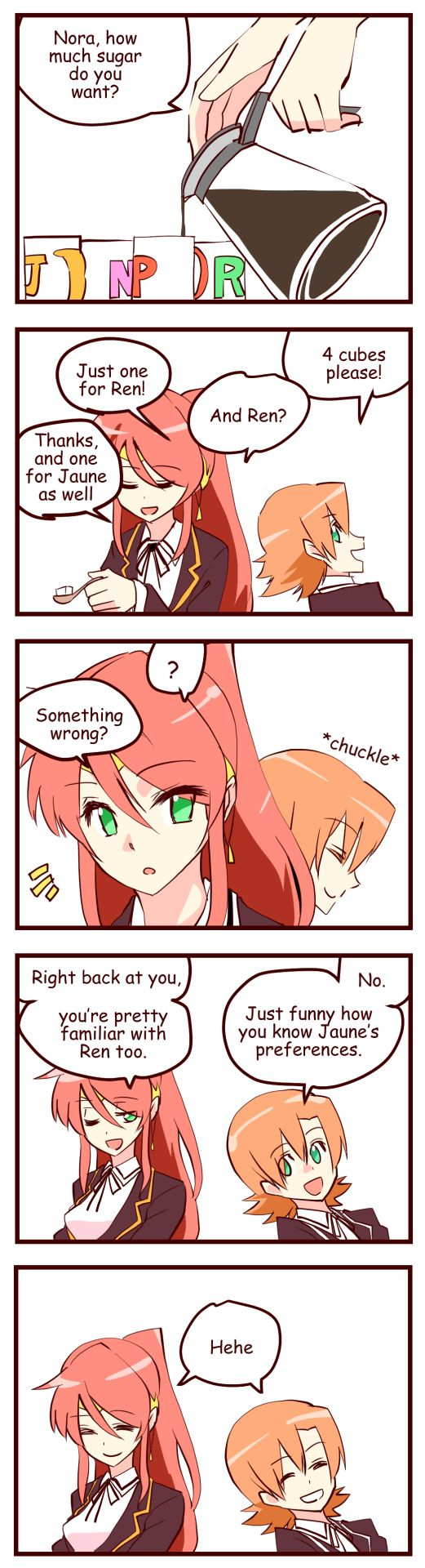 Cloudssj43 edited the English in this comic.No sugar for me.