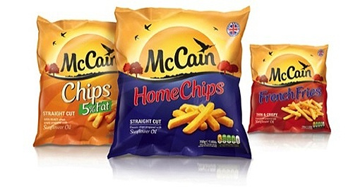 UK's Top Chips Brand McCain Gets New Logo in 50 Years