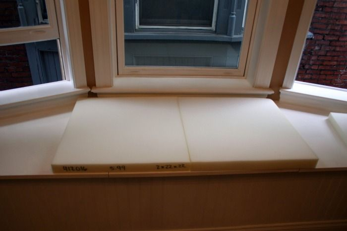 How To Make No Sew Window Seat Cushions Craft Room Update