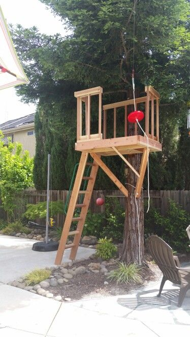 backyard zipline zip line backyard treehouse ideas play yard kid stuff