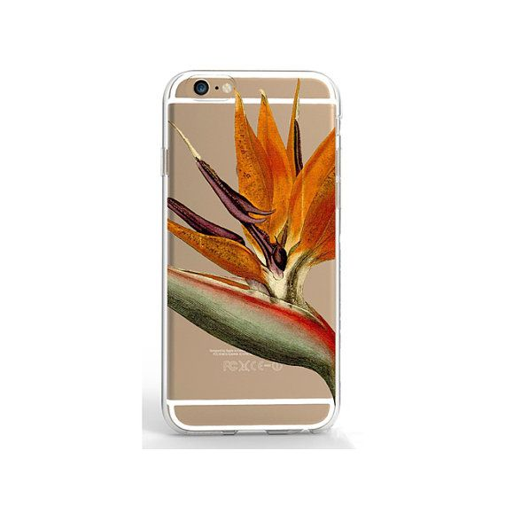 Clear iPhone SE case floral phone case iPhone 6/6S 7 case