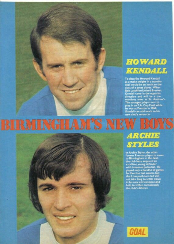 Howard Kendall, Archie Styles BCFC