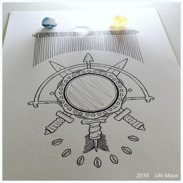 """Arte encomendada, destino: Lauro de Freitas-BA. """"BRASÃO (OXUM, OGUM E OXÓSSI)"""" https://www.instagram.com/notovitch/"""