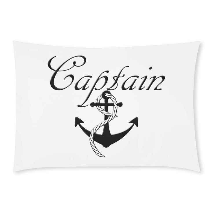 For The Captain Custom Rectangle Pillow Cases 20x30 (One Side) - A gift for the wedding couple, house warming gift or for the couple who have made a commitment to each other. Check the 'Couples' Section of this store for the set ---> http://bit.ly/2t4zDfF