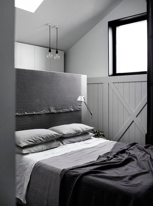 See how great solution behind the bed! French By Design: House Tour | A charming Melbourne Abode