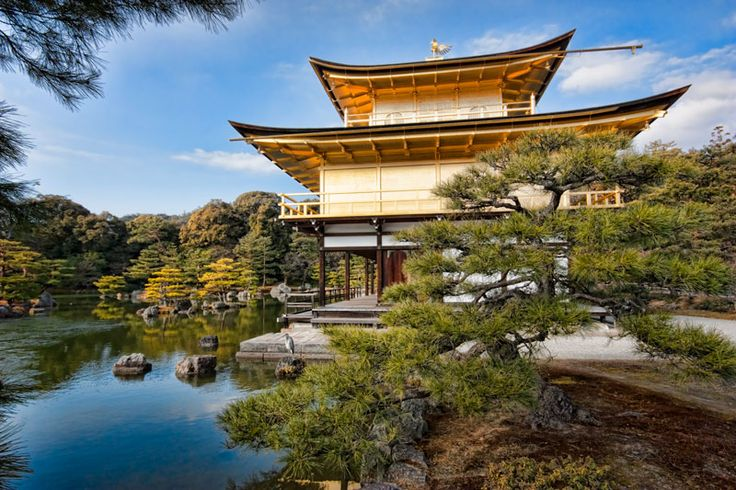 Kinkaku-ji,  the Golden Pavilion Temple is a UNESCO world heritage site in Kyoto.  This iconic site should be on your list of things to do in the city.