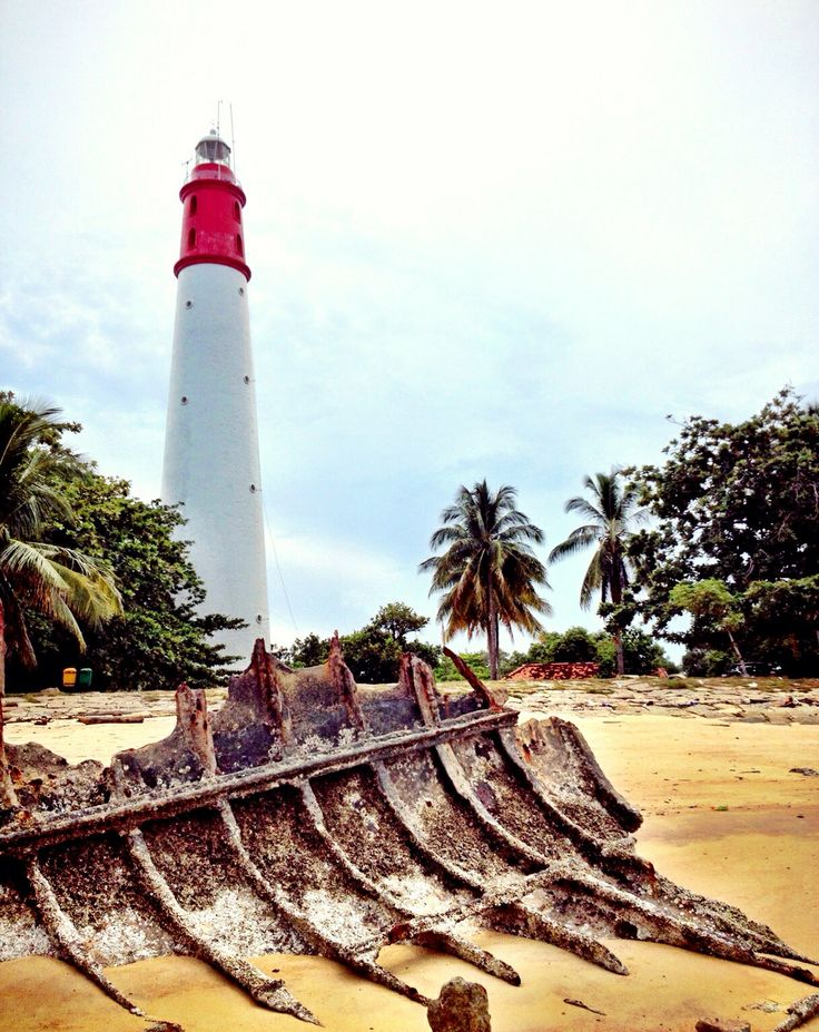 #Lighthouse and Shipwreck in Bangka Island, #Indonesia