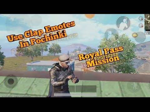 Pubg Mobile Use Clap Emotes In Pochinki | Royal Pass Mission