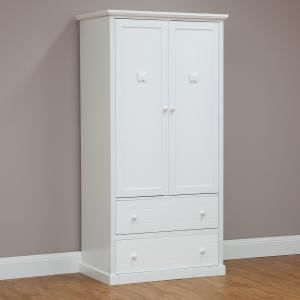 Butterfly Wardrobe 2 Door 2 Drawer W85 x D53 x H170cm. Get marvelous discounts up to 60% Off at Deals Direct using Coupons & Promo Codes.