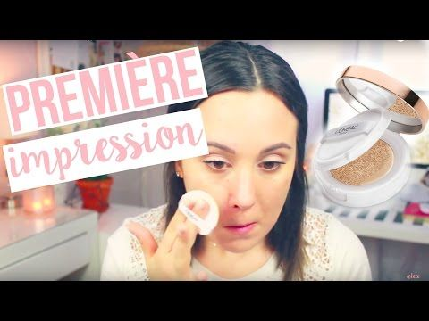 PREMIÈRE IMPRESSION // Fond de teint True Match Lumi Cushion de L'Oréal Paris - YouTube
