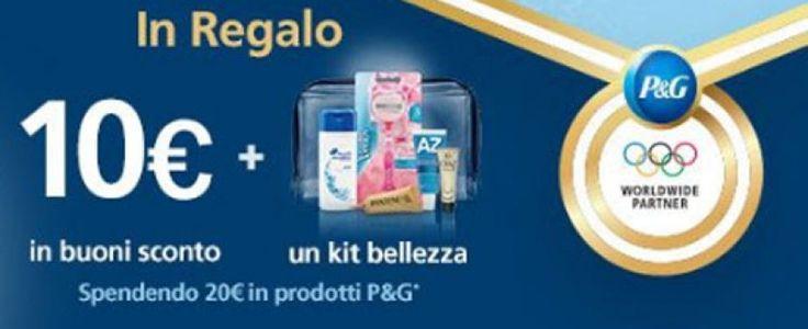 P&G ti regala 10€ in buoni sconto e un kit bellezza