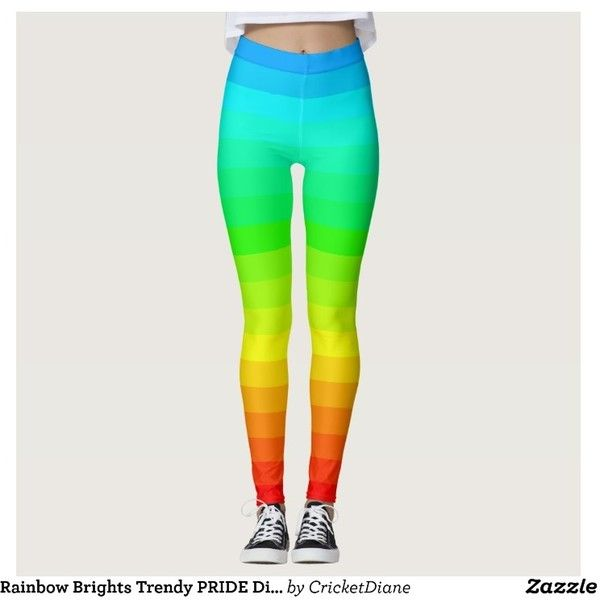Rainbow Brights Trendy PRIDE Diversity Fun Leggings ($63) ❤ liked on Polyvore featuring pants, leggings, parties, rainbow, party pants, bright colored leggings, legging pants, bright pants and rainbow pants