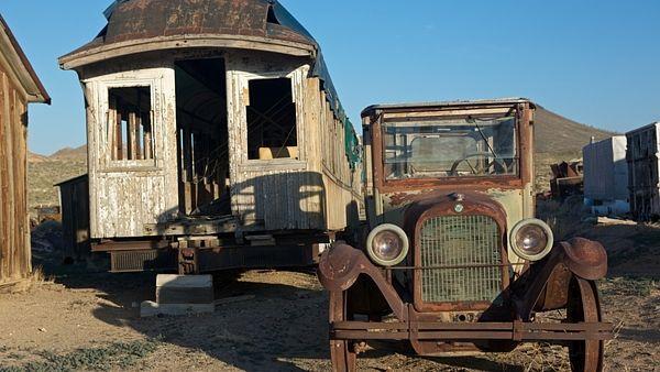 města duchů- Goldfield v Nevadě