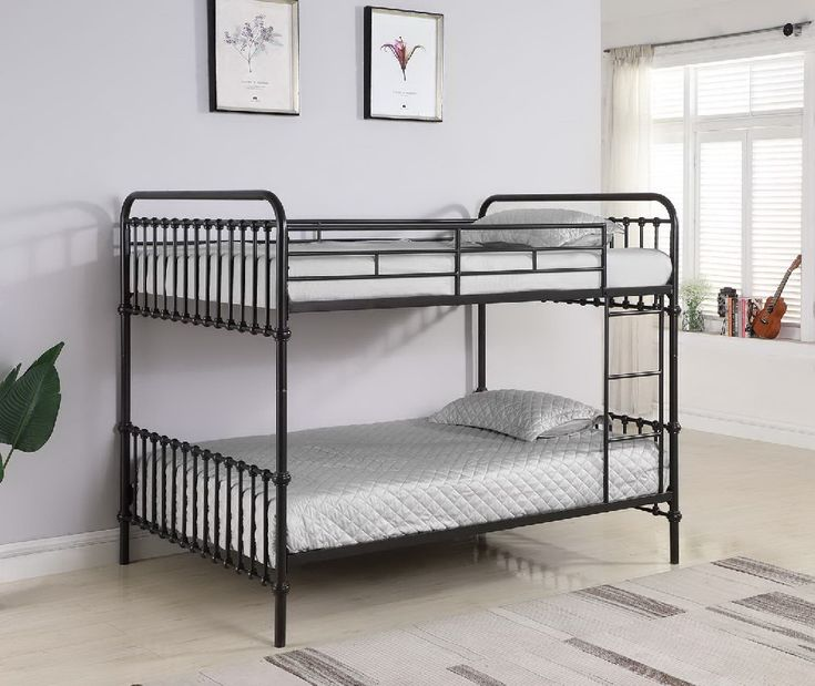 Hanklin Dark Bronze Full-over-Full Bunk Bed – Coaster 461106   – Products
