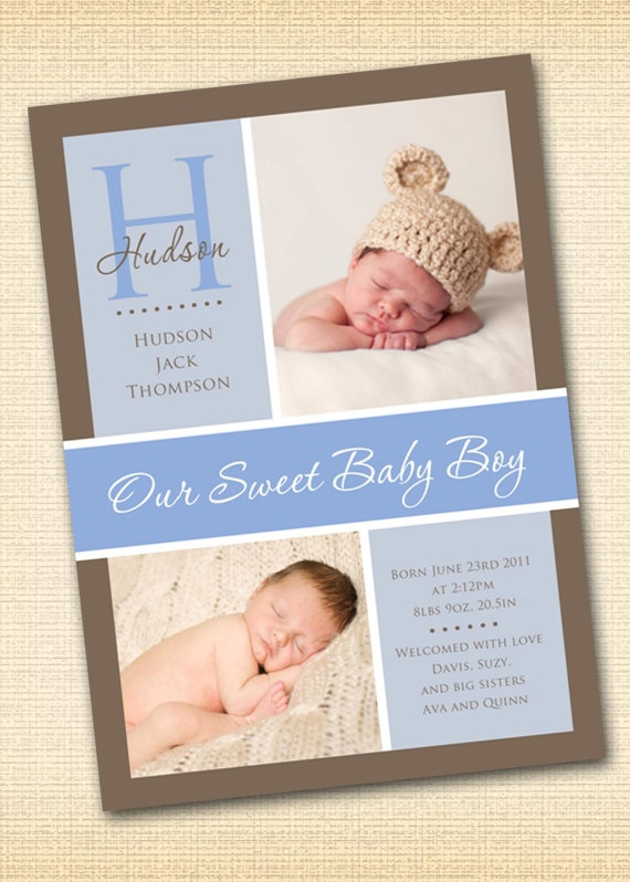 17 Best Images About Baby Announcements On Pinterest
