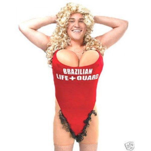 Hairy Mary Baywatch Lifeguard Pamela Anderson Style Joke