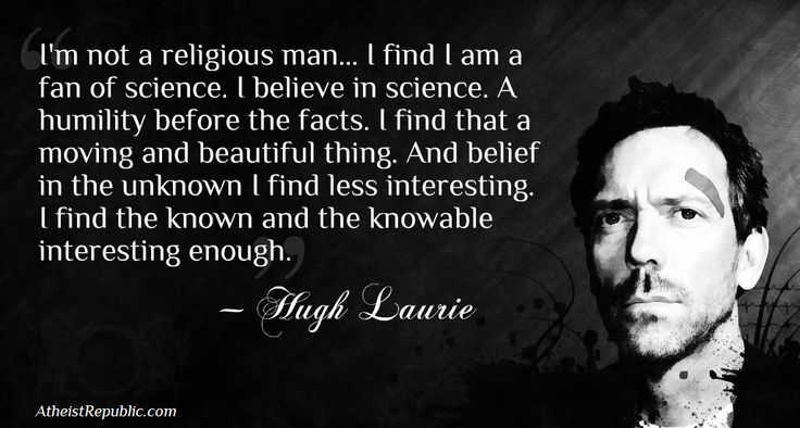 Hugh Laurie on Religion