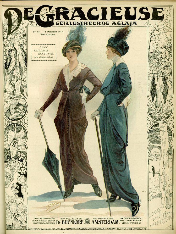 [De Gracieuse] Twee tailleurkostuums van dameslaken (December 1913)